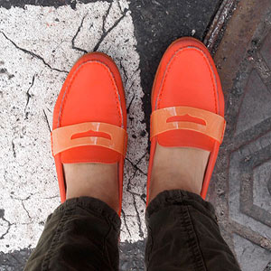 Cole Haan Orange Loafers