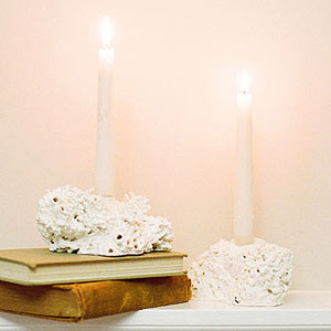 SMP home style me pretty faux coral candlesticks