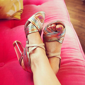 French Connection Heels Sandals Lucite