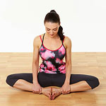 Seated bound angle pose 2