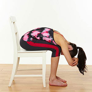 Chair Lower Back Stretch
