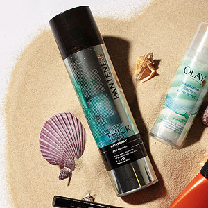 Beauty and the Beach Pantene Hairspray
