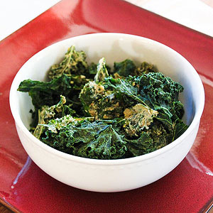 Garlic Parmesan Kale Chips