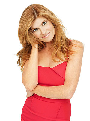 Connie Britton in red dress