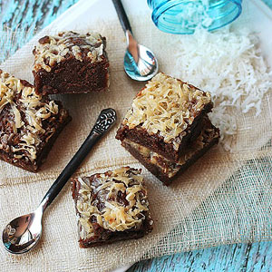 Milk Chocolate Coconut Brownies