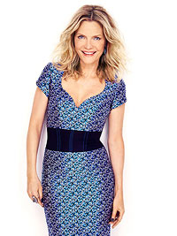 Michelle Pfeiffer in blue dress