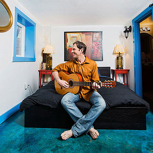 Arianne Cohen's husband in his bedroom