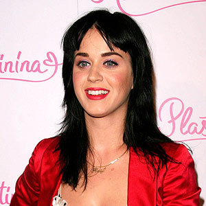 Katy Perry 2008 black medium length hair