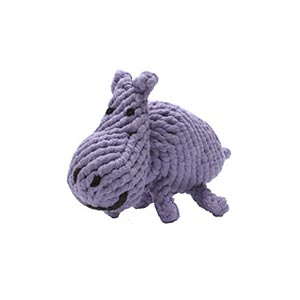 Good karma rope toy hippo