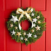 Wreath with 3d stars