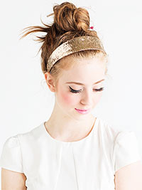 Shop bando gold sparkle headband