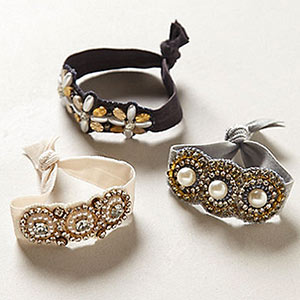 Anthropologie crystalline hair ties