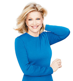 Diane Sawyer blue dress