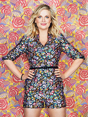 Amy Poehler Floral Background
