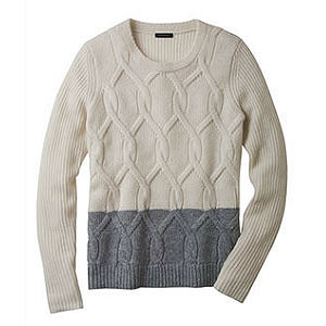 Ann Taylor Two Tone Sweater