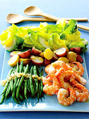5 Family-Friendly Supper Salads, shrimp salad nicoise