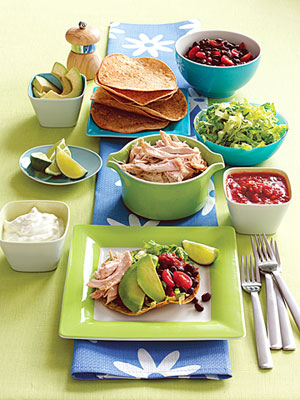 5 Family-Friendly Supper Salads, roasted chicken salad tostada