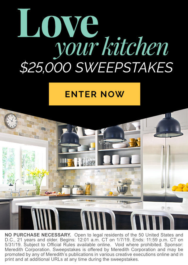 Love Your Kitchen $25,000 Sweepstakes