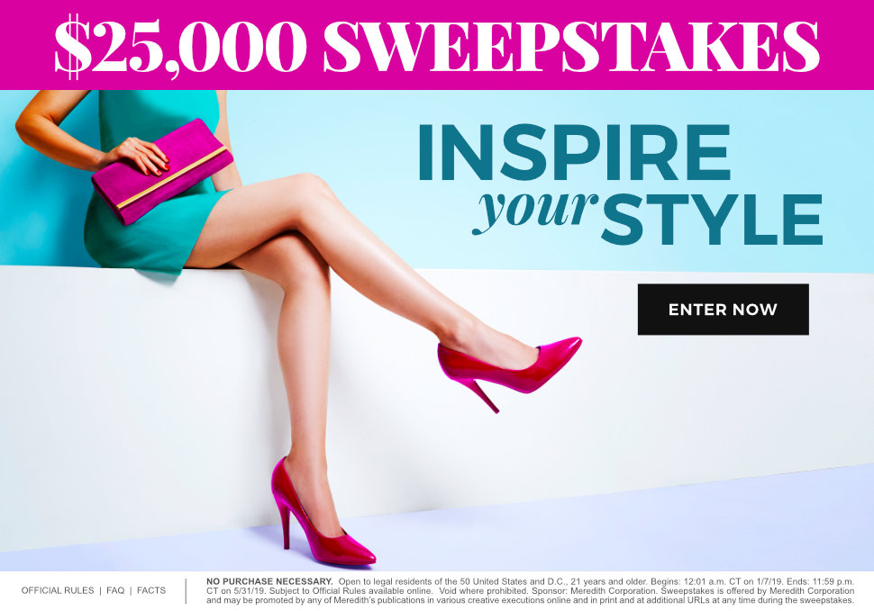 Inspire Your Style $25,000 Sweepstakes