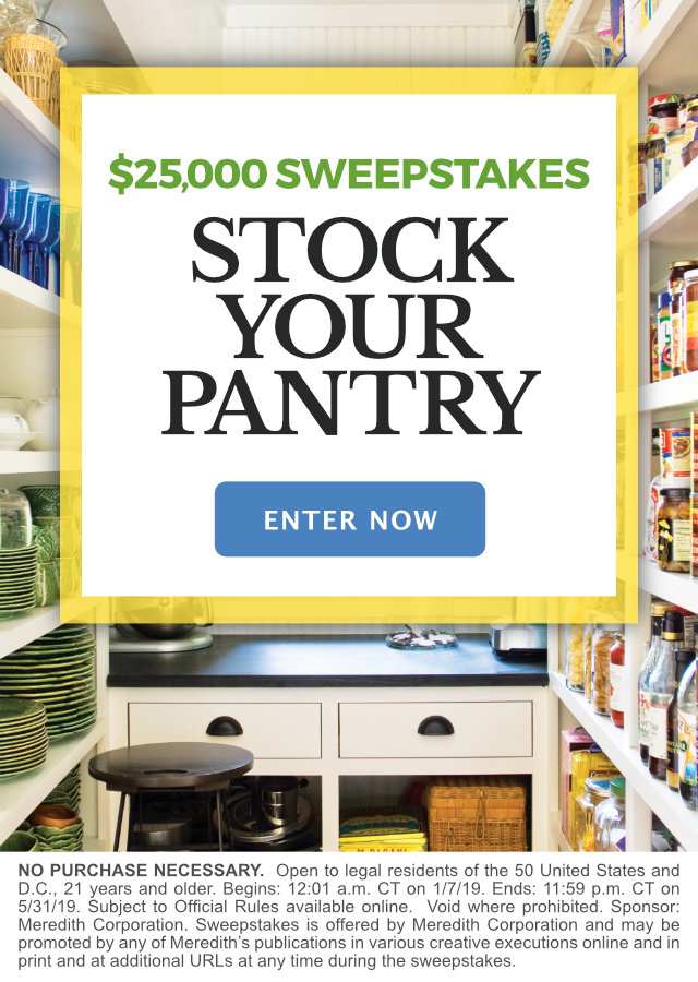 Stock Your Pantry $25,000 Sweepstakes