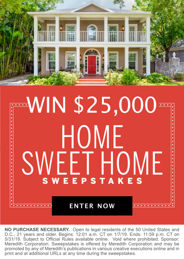 Home Sweet Home $25,000 Sweepstakes