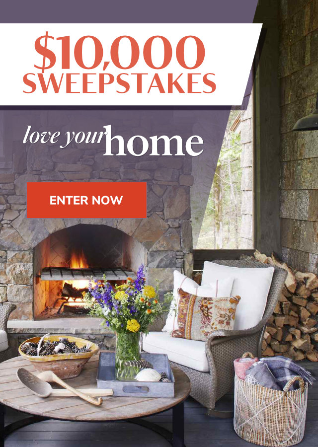 Love Your Home $10,000 Sweepstakes