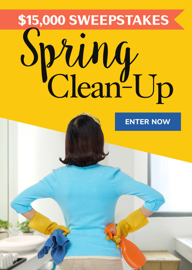 Spring Clean-Up $15,000 Sweepstakes