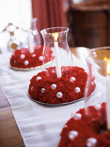 black red and white centerpieces help wedding P MWL444719