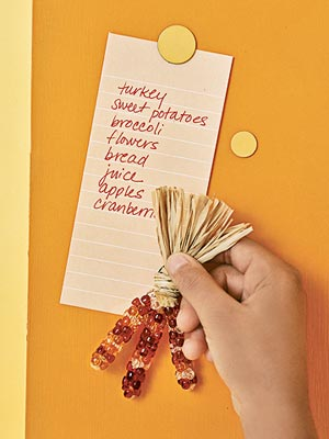 Thanksgiving meal list