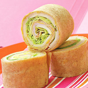 turkey tortilla rolls