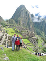 Higham family at Machu Picchu