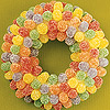 Make a Holiday Candy Wreath