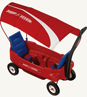 Voyager Canopy Wagon with EVA foam wheels- Radio Flyer-Toys