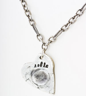 Colleen Berg Heart Print Necklace
