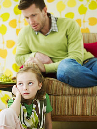 father trying to talk to daughter
