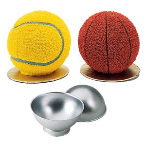 sports ball cake and pan
