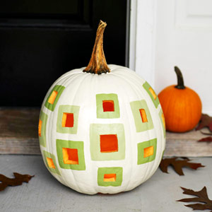 Geometric Patterned Pumpkin from Parents Magazine