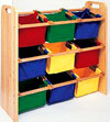 Children's Wooden Storage Rack photo
