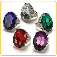 Gigantic Gemstone Ring Party Favors Recall