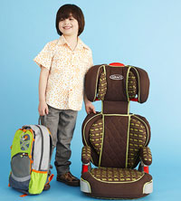 child next to car seat
