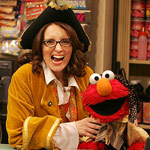 Tina Fey with Elmo