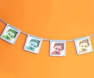 How to make a photo garland