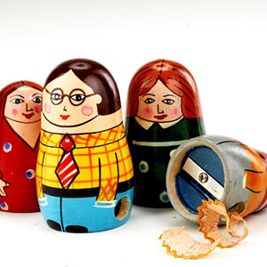 Doll pencil sharpeners