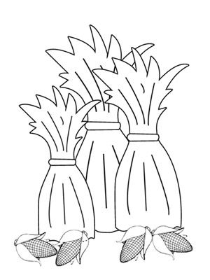 The Cornstalk Colouring Pages Corn Stalk Coloring Page