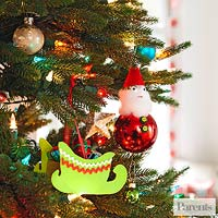 Sleigh tree ornament
