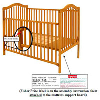 Stork Craft drop-side cribs