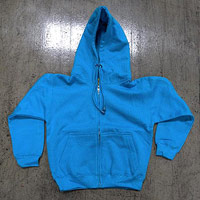 Hooded sweatshirt with drawstrings