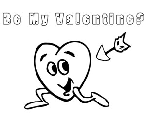 Be My Valentine Coloring Page