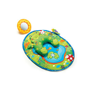 Tiny Love Frog pillow & mat