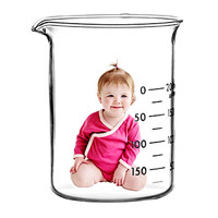 baby in test beaker
